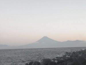 富士山を目の前に
